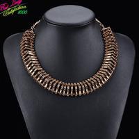 Fashion Arrival Mental Big Brand Design Statement Luxury Necklace-Triangle Exaggerated ZA Necklaces Hotsale 9590
