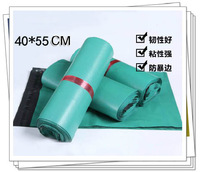 40x55cmcm 50pcs/lot wholesale green plastic mailing bags express bags self adhesive seal