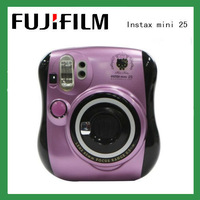 Fujifilm Instax mini 25 Film Photo Polaroid Camera White Pink Purple Free Shipping