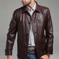 New design casual  leather jacket men autumn gentlemen jacket (below is US size please refer the size table)WY0034/Z