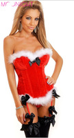 2015 New arrive!! Fast Shipping sexy christmas costumes for women, Santa Claus sexy corset top overbust free shipping