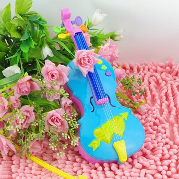 Magic Electric guitar Violin Music Strum Stage Intelligence Toys Flash Plastic Material(China (Mainland))