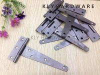 """5""""Light T-hinge in black coated,gate hinge,shed hinge,cabinet furniture door hinges--30pcs"""