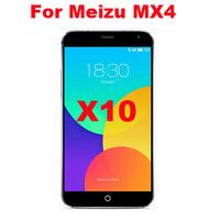 10pcs/Set HIGH Clear LCD Screen Protectors Screen Film Screen Guard For Meizu MX4