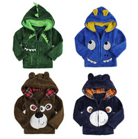 BC106 2014 New free shipping girl & boy coat warm and thicker babys outerwear cartoon cute children jacket retail and wholesale