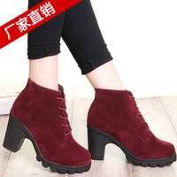 spring female ankle boots heels platform motorcycle fashion wedge boots high heels sapatos femininos 2014 botas mujer zapatillas
