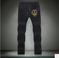 Free Shipping 2014 Autumn New Men Big Yards of Leisure Trousers Fashionable Man With Straight Printed Pants Asia M-5XL