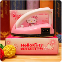 A convenient travel Hello Kitty electric iron folding cute cartoon fashion gifts mini electric iron