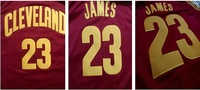 Newest!2014-2015 Season New Style Cleveland James Jersey , Cleveland #23 Lebron James red Road Basketball jersey,S-XXL