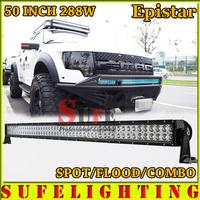 FREE DHL SHIPPING 50 INCH 288W LED OFFROAD LIGHT BAR TRUCK 4X4 LED DRIVING LIGHT BAR WORKING LIGHT BAR FOG CAR HEAD LIGHT 240W