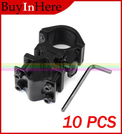 10PCS 25mm Ring 20mm Rail Mounted Fort Flashlight Torch Laser Gun Optical Sight Surefire Barrel Mount Holder Bracket Clip Clamp(China (Mainland))