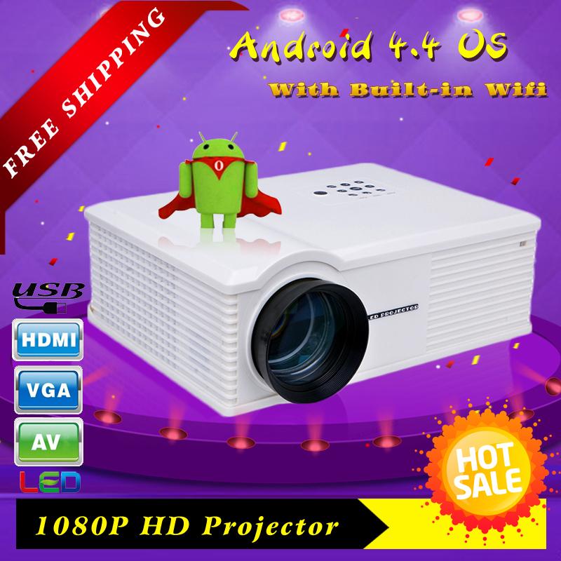 3d android projektor 1080p mit wlan billig preis 1280*800 full hd led-mini-projektor versandkostenfrei