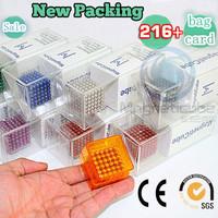 Free Shipping 5mm BuckyBalls Buckycube Magnetic Ball Neo Cube Magnet Ball Neodymiums NEOCUBE Education Toy +Plastic Box+bag+card