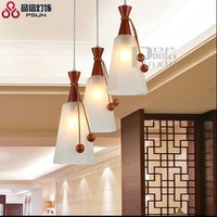 New Chinese style Led pendant light with 3 heads modern dinner room light