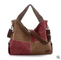 Retail 2014 bag for woman fashion big canvas shoulder bags lady casual handbag