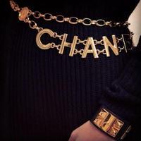 women luxury brand metal plare letters double waist chains  women metal plate cummerbunds