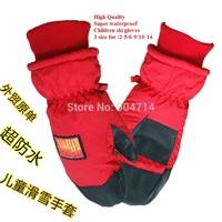 Children winter warm cotton waterproof ski mittens/knitting gloves/kids winter gloves/cotton gloves/winter gloves/3size