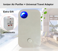 Present  Universal Travel  Adapter uk us Ionizer Air Purifier for home Negative Ion Oxygen Bar Air Ionizer &mini humidifier air