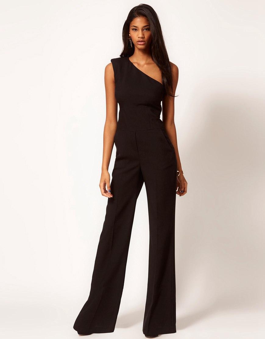 2014 женщины без рукавов длинные брюки широкого покроя комбинезоны женская