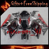 * red black Fairing For Suzuki GSX R 600/750 2001 2002 2003 GSXR-600 GSXR-750 01 02 03 Kit Set Fit GSXR600 GSXR750 GSX R600 GSXR