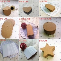 Wholesale,(1 Lot=200 Pcs) DIY Scrapbooking Paper Kraft Bookmarks Blank Hang Tags Wedding Postcards Crafts Gift Tag Label Card