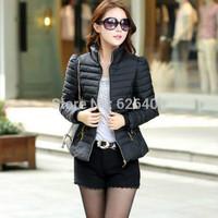 Hot Sale Women Jacket Slim Office Ladies Zippers Plus Size Winter  Coats Jaquetas Free Shipping