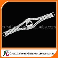hot sale silver plating crystal rhinestone connectors for bikini wholesale China + free shipping