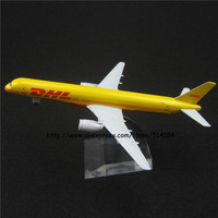 16cm Alloy Metal Air Air DHL Airlines Boeing 757 B757 Airways Plane Model Aircraft Airplane Model w Stand Toy Gift
