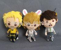 Set of 3,Banpresto Tiger & and Bunny Character Plush Doll Figure Pendants New free shipping