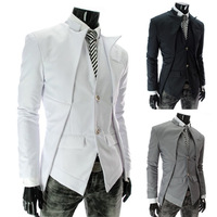 Suit Men Limited Cotton Regular Full The 2014 Winter Hot Fashion Asymmetric Suit Big Code Blazer Amazon Sells Men's