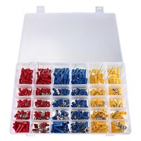 480Pcs ASSORTED INSULATED ELECTRICAL WIRE TERMINALS CRIMP CONNECTORS SPADE SET free shipping