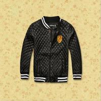 Free  Shipping  2014  New  Retail  Brand  fashion  spring/autumn  children's  coat  long  sleeve  zipper turtleneck  boy's coat