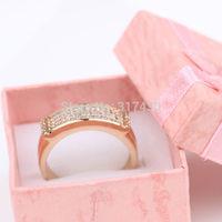 18k Yellow Gold Filled Womens Ring SZ8 Zircon Wedding Rings GF Jewelry Wedding Jewelry Free S/H