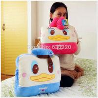 Drop shipping so cute Donald duck Daisy duck plush toys 37*30cm Lovely cartoon Hand warmer donald duck pillows birthday gift