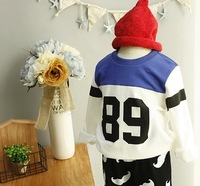 Trade quality Korean children's clothes sweater neutral 89th digit of t-shirts for boys and girls