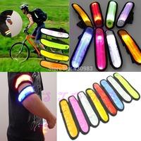 Free Shipping 1pc Reflective Flashing LED Glow Armband Ankle Visible Arm Belt Strap Sports Biking