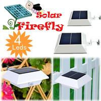solar senser Square 4LED Solar Powered Panel Fence Gutter Eave Light Home Garden Yard Wall Outdoor Pathway Decor Lamp Lantern