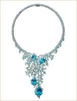 Topaz Necklace 925 sterling silver jewelry fashion necklaces for women 2014 sapphire jewelry
