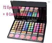 Free shipping!!! Kit Professional Makeup Cheek Powder Blush + Eyeshadow Palette 78 Colors