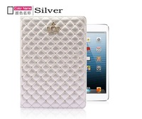 50pcs/lot Fashion For iPad6 Air2 case Crown Set auger 2 Stand Flip smart cover Leather Cover for iPad air2 free shipping