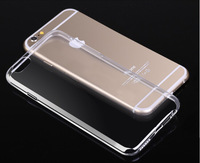 """New Size 0.3mm Ultra Thin Soft TPU Gel Transparent Case For iPhone6 4.7"""" Colorful Phone Back Cover Bag For iphone 6 Plus 5.5inch"""