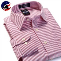 Special Offer for 11.11 2014 New Long-Sleeve Dress Shirts Oxford for Men/Quality Men Casual-Shirt/Stripe Casual Shirts Dudalina