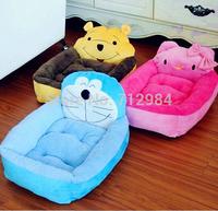 3Color Free Shipping High Quality Cheap cartoon Dog Beds Pet Beds Dog Mat Warm Winter  Velvet Lamb 3D PP Cotton Dog Beds
