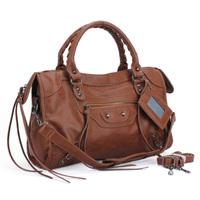 leather nubuck leather motorcycle bag CITY Shoulder Messenger bag woman