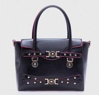 2014 Winter New Fashion Women Handbags Vintage Belt decoration Casual Tote Bolsas Femininas Elegant Leather Messenger Bags Purse
