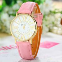 New Fashion Leather Strap Geneva Watches Women Dress Watches Quartz Watch AW-SB-1166