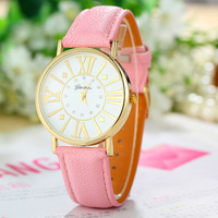 New Fashion Leather Strap Geneva Watches Women Dress Watches Quartz Watch AW-SB-1166