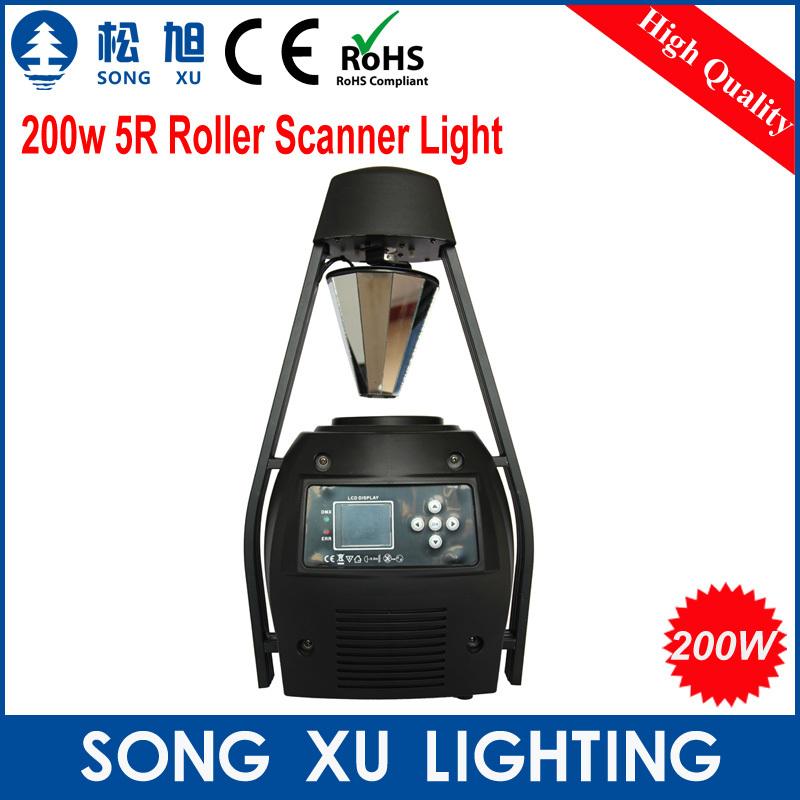 Stage Beam 200W 5R Scan light Beam Scanning Light Rotate Roller Scanner Light/SX-EL008(China (Mainland))