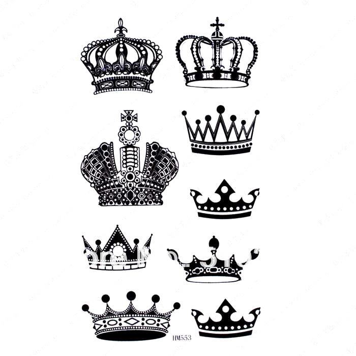 Queen crown design drawing