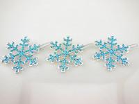 60 Pcs 2014 New  Frozen Elsa Jelweled Snowflake Blue Crystal Rhinestone Crystal hair ornament Hair Pins Hair Clip Free Shipping